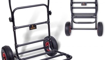 De Black Magic Comfort Trolley van Browning is een luxe trolley die het transporteren van zware delen van je witvisuitrusting mogelijk maakt.