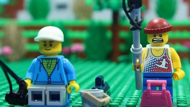 Lego-sportvissers met menselijke trekjes – animatie