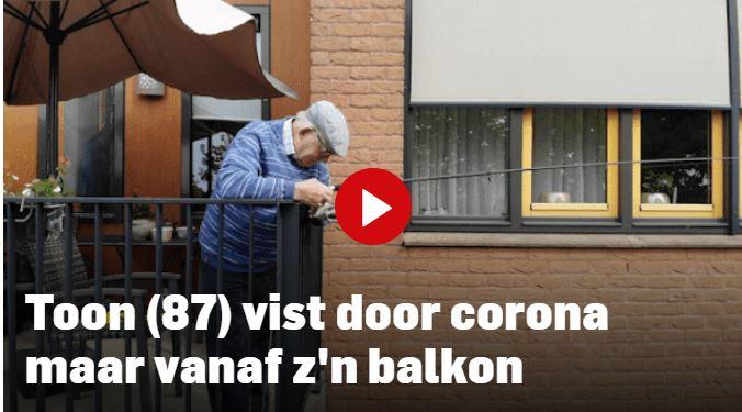 Toon (87) vist ook in quarantaine stug door