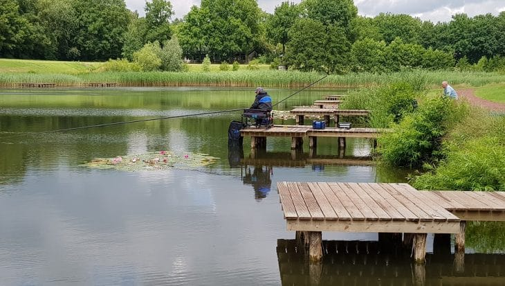 Vissen op Vispark Nolderwoud in Zuidwolde