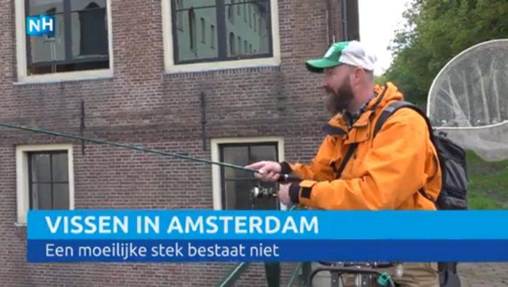 RTV NH visprogramma speurt naar vis in Amsterdam