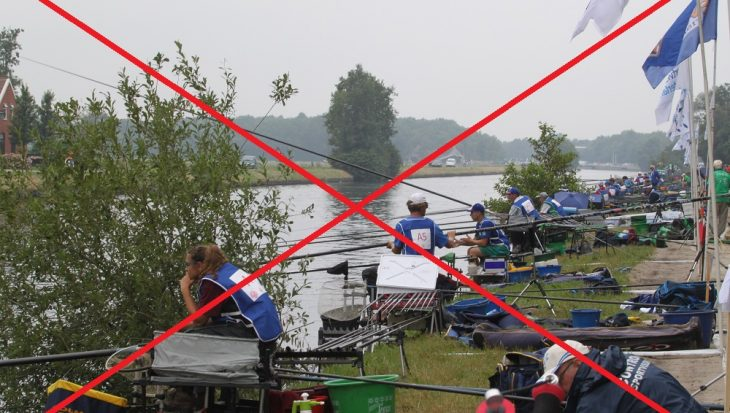 Wedstrijdvissen verboden