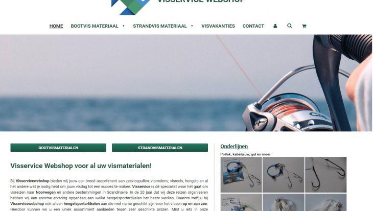 Visservice webshop vernieuwd en uitgebreid
