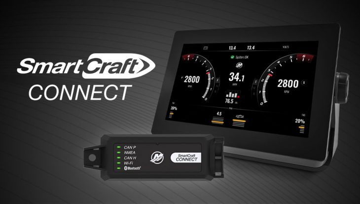 SmartCraft Connect Mercury nu ook op Garmin en Raymarine displays