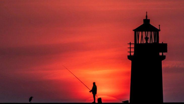 Visfoto met 'sunset' belandt op voorpagina krant