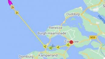 Eigenaar zeiljacht traceert schip via AIS bij de Engelse kust