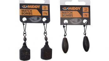 Middy Square Match Bombs en peerloodjes voor de witvisser