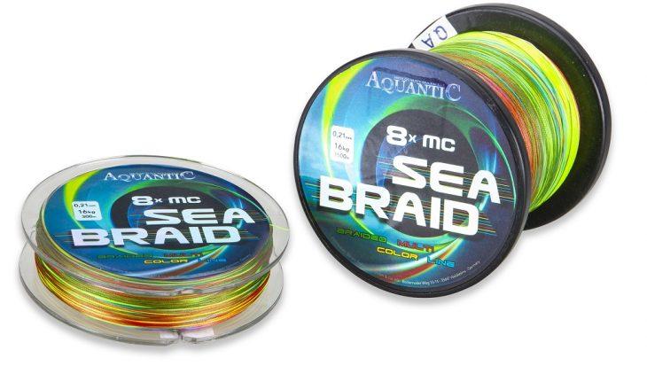 Veelkleurige Aquantic Sea-Braid geruisloos & sterk